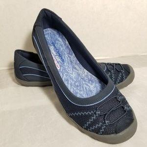 Skechers Memory Foam Blue Loafers Womens Size 8.5